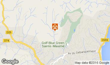 Kaart Sainte Maxime Villa 103264
