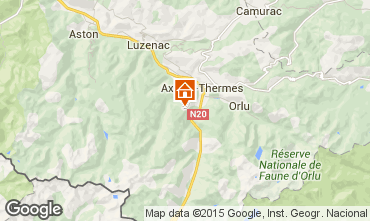 Kaart Ax Les Thermes Chalet 67772