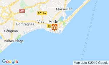 Kaart Cap d'Agde Appartement 99055