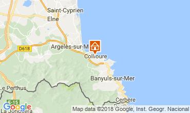 Kaart Collioure Bed & breakfast 115307