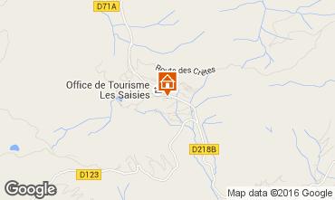 Kaart Les Saisies Studio 2742