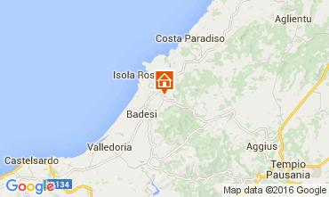 Kaart Isola Rossa Appartement 60142