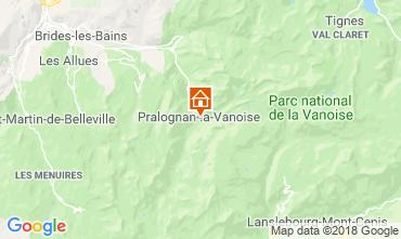 Kaart Pralognan la Vanoise Huis 116066
