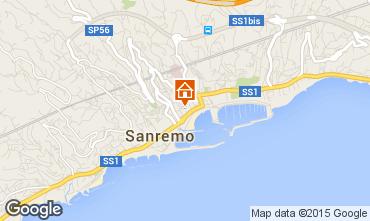 Kaart Sanremo Appartement 72602