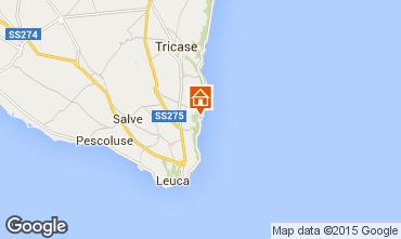 Kaart Marina di Novaglie Appartement 77582