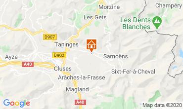 Kaart Morillon Grand Massif Chalet 55038