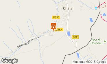 Kaart Châtel Chalet 800