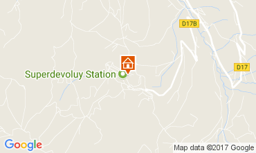 Kaart Superdévoluy- La Joue du Loup Appartement 112234