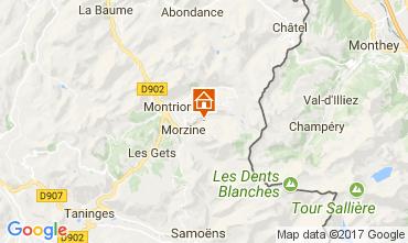 Kaart Morzine Chalet 112052