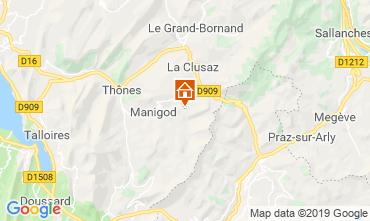 Kaart Manigod-Croix Fry/L'étale-Merdassier Appartement 67712