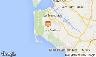 Kaart Les Mathes Stacaravan 81106