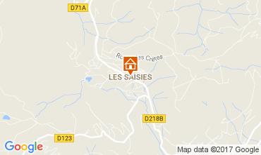 Kaart Les Saisies Appartement 2719