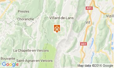 Kaart Villard de Lans - Corrençon en Vercors Appartement 3643