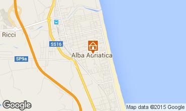 Kaart Alba Adriatica Appartement 40987