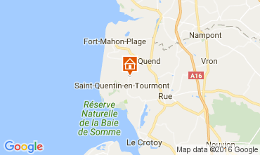 Kaart Quend Plage (strand) Vakantiehuis 106293