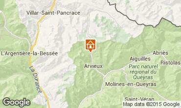 Kaart Arvieux en Queyras Appartement 538