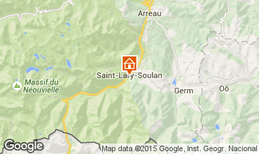 Kaart Saint Lary Soulan Appartement 4439
