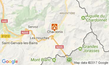 Kaart Chamonix Mont-Blanc Appartement 112088