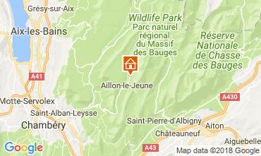 Kaart Les Aillons Vakantiehuis 115914