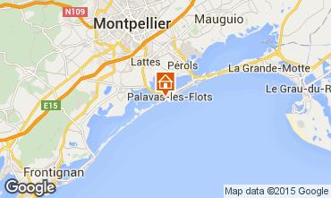 Kaart Palavas-les-Flots Appartement 85785