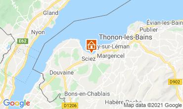 Kaart Thonon Les Bains Chalet 14972
