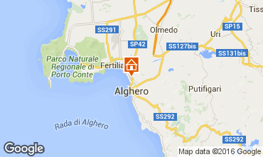 Kaart Alghero Appartement 65932