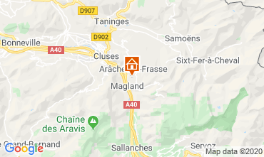Kaart Les Carroz d'Araches Studio 60427