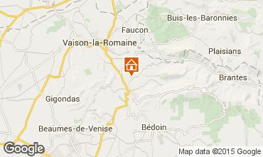 Kaart Malaucène Vakantiehuis 83743