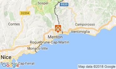 Kaart Menton Appartement 113458