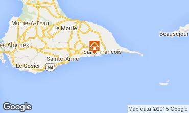 Kaart Saint Francois Appartement 90989