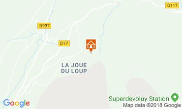 Kaart Superdévoluy- La Joue du Loup Chalet 115811