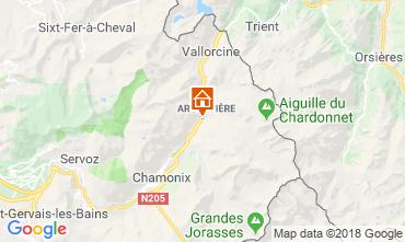 Kaart Chamonix Mont-Blanc Appartement 116295