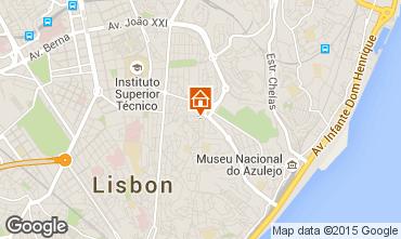 Kaart Lissabon Appartement 56054