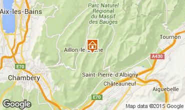 Kaart Les Aillons Studio 64343