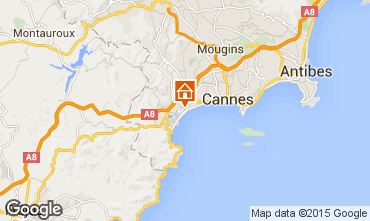 Kaart Cannes Appartement 102260