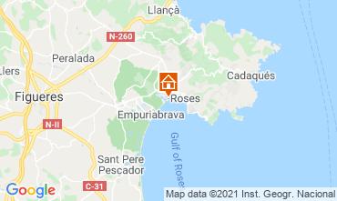 Kaart Rosas Appartement 105098