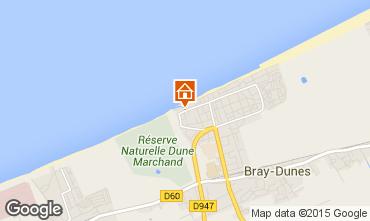 Kaart Bray-Dunes Appartement 23618