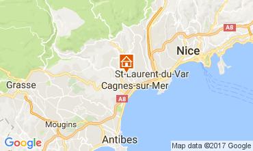 Kaart Cagnes sur Mer Studio 92776