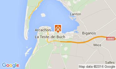 Kaart Arcachon Huis 105102