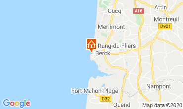 Kaart Berck-Plage (strand) Appartement 91344