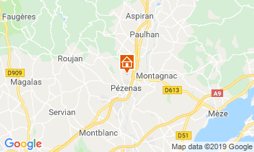 Kaart Pézenas Villa 119745