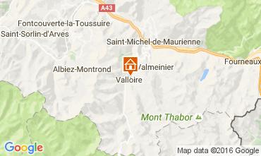 Kaart Valloire Appartement 74411