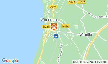 Kaart Wimereux Villa 88410
