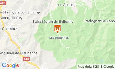 Kaart Les Menuires Chalet 100576
