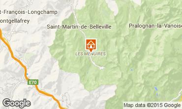 Kaart Les Menuires Studio 27183