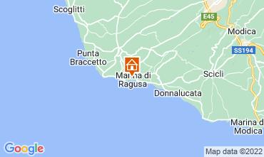 Kaart Marina di Ragusa Appartement 92332