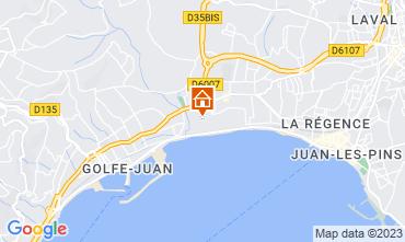 Kaart Juan les Pins Appartement 59593