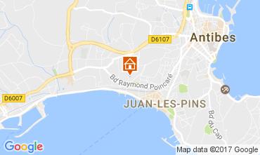 Kaart Juan les Pins Appartement 107886