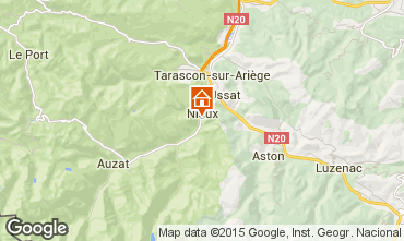 Kaart Ussat les Bains Vakantiehuis 3918