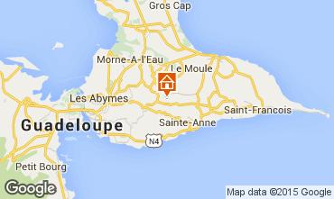 Kaart Sainte Anne(Guadeloupe) Vakantiehuis 8024